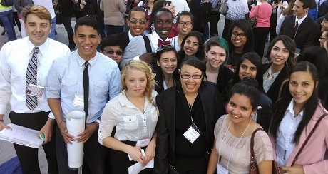 2014 Mock Trial team at state finals in Riverside